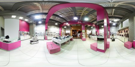 Photo for Bright and fashionable interior of shoe store in modern mall - Royalty Free Image