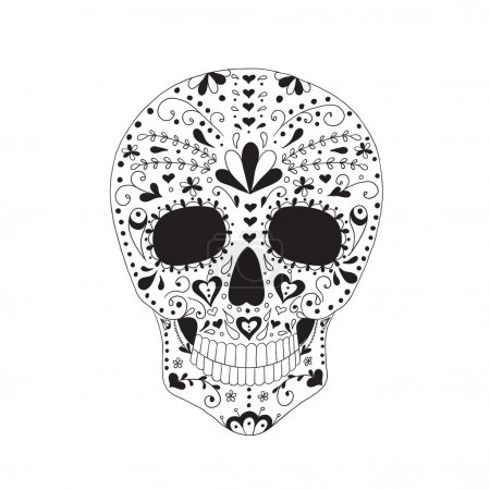 Illustration for Skull with floral ornament. Day of the dead. - Royalty Free Image