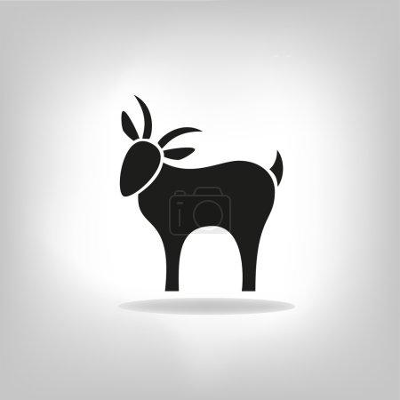 Black silhouette of goat