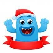 Blue monster hands up