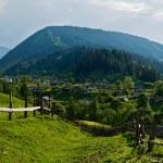 Rural mountain landscape. Carpathian, Ukraine, Eur...