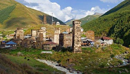 Watchtowers in villages being in Georgia