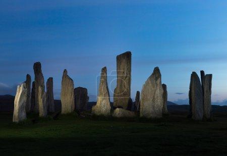 Midnight standing stones