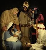 Live Christmas nativity scene