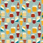 Seamless pattern with beers