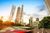 The streets of Shanghai landmarks