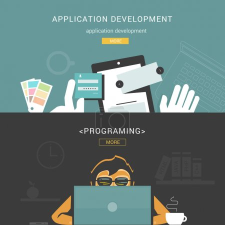 Set of Flat Design Concepts for Web Application Development