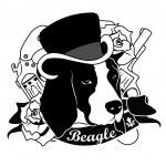 Постер, плакат: Beagle Portrait Isolated Vector Illustration