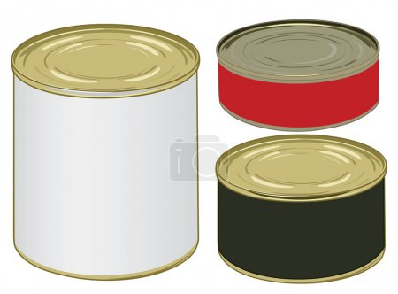 Set of aluminium colored label cans for signing yo...