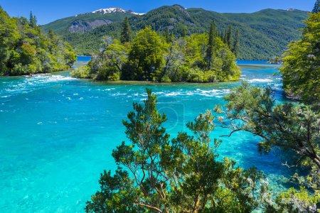 Menendez lake, Los Alerces National park in Patagonia, Argentina