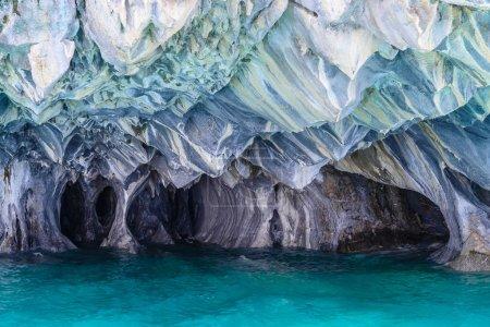 Photo pour Grottes de marbre du lac Général Carrera (Chili) ) - image libre de droit