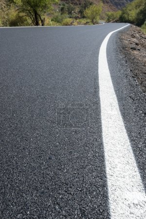 Photo for Newly paved road - Royalty Free Image