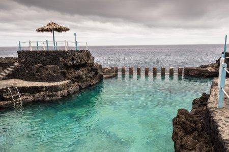 Natural swimming pools at Charco Azul, La Palma, Spain