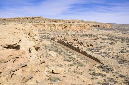 Chetro Ketl ruins, Chaco Canyon, New Mexico (USA)...