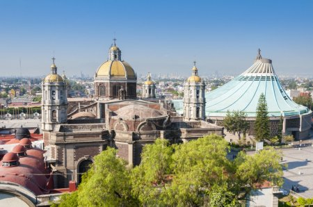 Photo pour Sanctuaire de notre Dame de Guadalupe à Mexico - image libre de droit