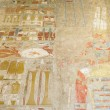 Painting at the temple of Hatshepsut, Luxor (Egypt...