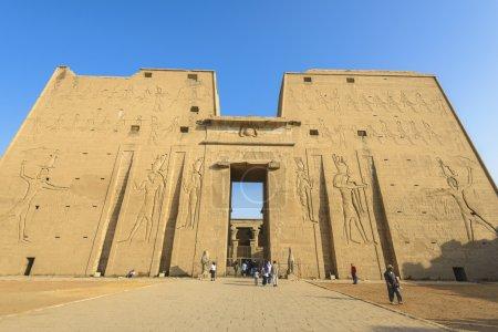 Photo pour Le Temple d'Horus (Temple d'Edfou), Egypte - image libre de droit