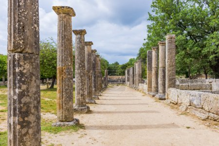 Palaistra (wrestling grounds), ruins of the ancient city of Olympia, Greece