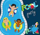Pool party for boysVector Illustration