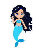 Cute little mermaidVector illustration