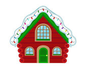Christmas house Santa's house Vector illustration