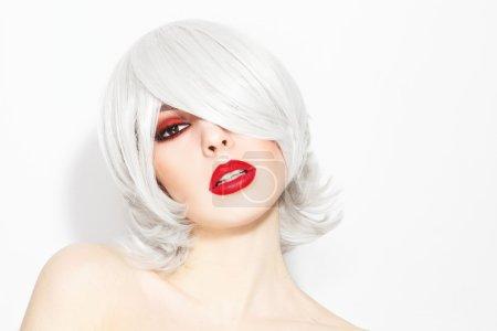 Beautiful woman with stylish make-up