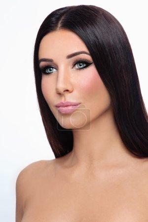 woman with stylish winged eyes