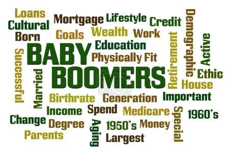 Photo pour Baby Boomers mot nuage sur fond blanc - image libre de droit
