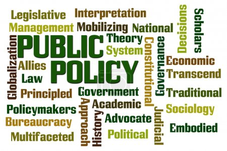 Public Policy word cloud on white background...