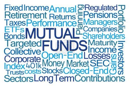 Photo pour Fonds communs de placement Word Cloud sur fond blanc - image libre de droit