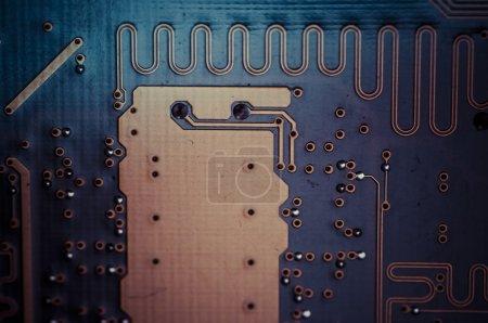 Photo pour Fond moderne circuit, carte mère, informatique et électronique - image libre de droit