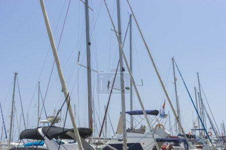 Luxury boats moored in Marbella