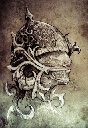 Sketch of tattoo art