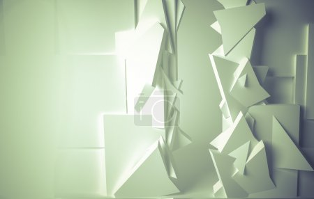 Photo for White room, 3d space with various forms - Royalty Free Image