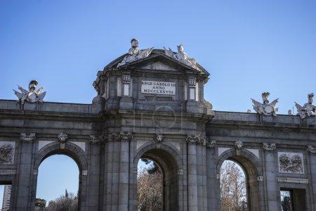 Mythical alcala door in Madrid