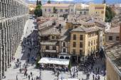 Aerial views of the Spanish city of Segovia.