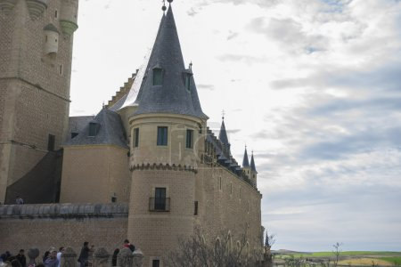 Alcazar castle city of Segovia, Spain.