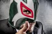 Üzletember, a mexikói birkózó maszk
