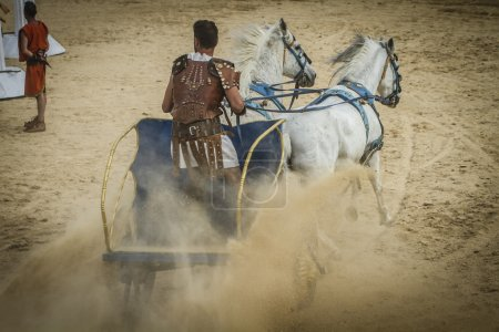 Chariot race in a Roman circus