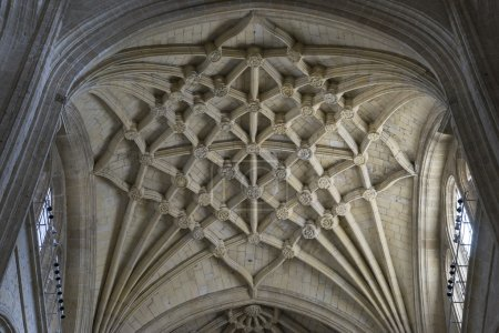 Interior of gothic cathedral of Segovia in Spain...