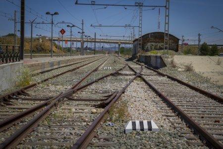 detail of railways in Spain