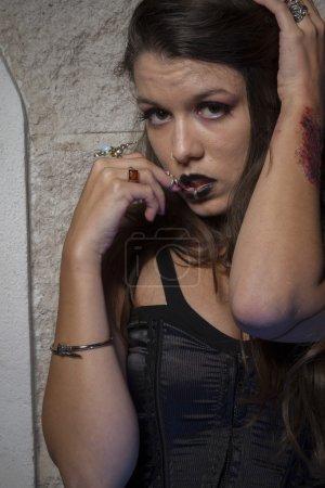 beautiful gothic girl posing