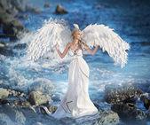 """Постер, картина, фотообои """"женщина по подобию ангела"""""""