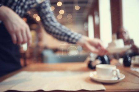 Morning Breakfast in cafe