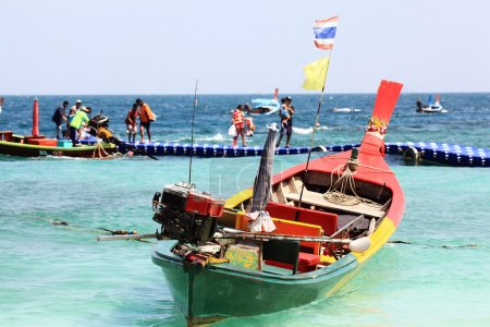 traditional Thai wooden boats