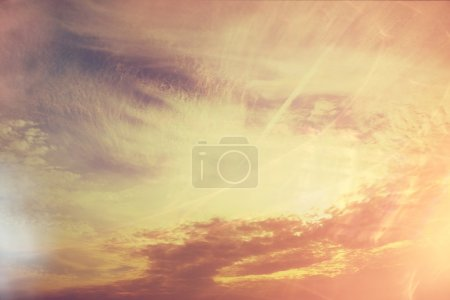 clouds on sunset background