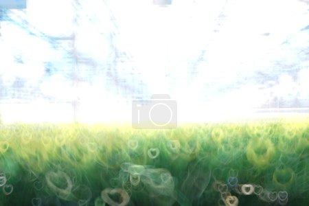 blur fresh green spring foliage