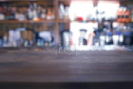 background of bar interior