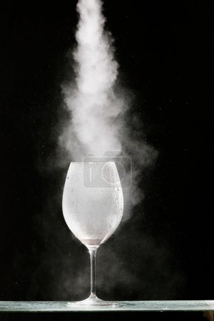 gas in a glass of Nitrogen