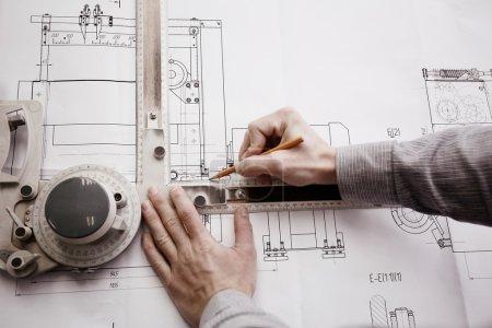 engineer designer drawing